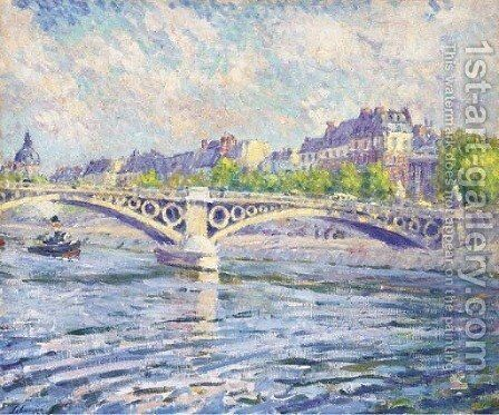 Paris, remorqueur sur la Seine by Henri Lebasque - Reproduction Oil Painting