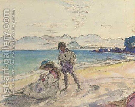 Plage du Cannet by Henri Lebasque - Reproduction Oil Painting