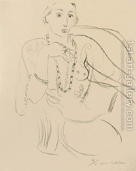 Femme au Collier by Henri Matisse - Reproduction Oil Painting