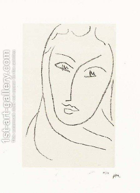 Jeune femme au foulard by Henri Matisse - Reproduction Oil Painting