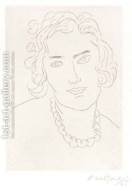Le grand collier by Henri Matisse - Reproduction Oil Painting