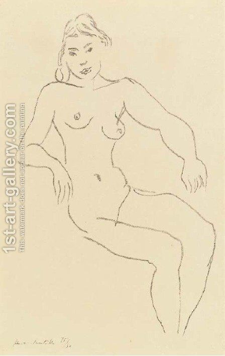 Nu assis, Chevelure foncee by Henri Matisse - Reproduction Oil Painting
