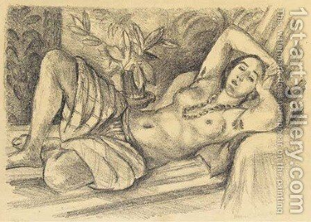Odalisque au magnolia by Henri Matisse - Reproduction Oil Painting