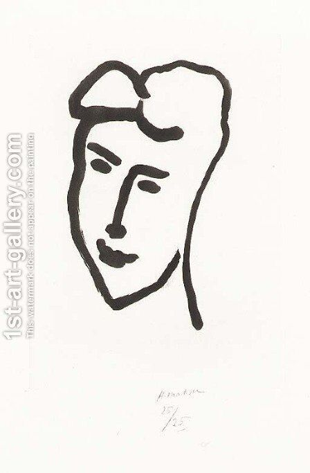 Visage de jeune femme by Henri Matisse - Reproduction Oil Painting