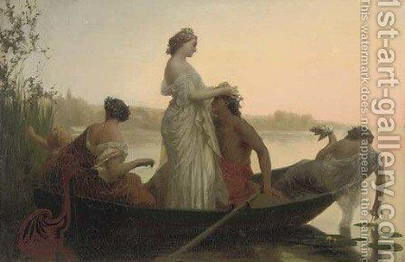 An idyll of marriage by Henri Pierre Picou - Reproduction Oil Painting