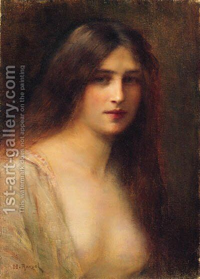 A Young Beauty by H. Rondel - Reproduction Oil Painting