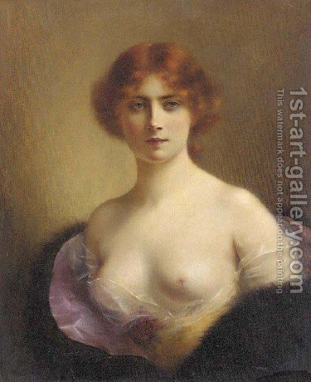 A young beauty 3 by H. Rondel - Reproduction Oil Painting