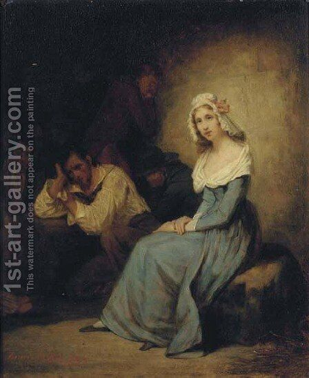 A comforting presence by Henry Scheffer - Reproduction Oil Painting