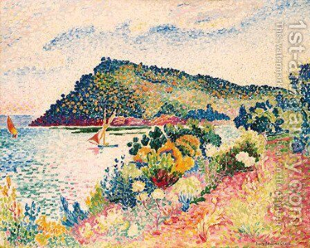LE CAP NeGRE, LA BAIE DE PRAMOUSQUIER by Henri Edmond Cross - Reproduction Oil Painting
