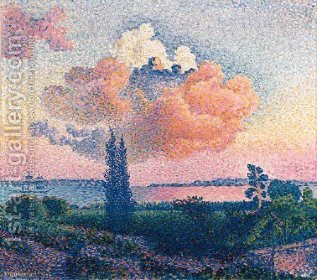 Le nuage rose by Henri Edmond Cross - Reproduction Oil Painting