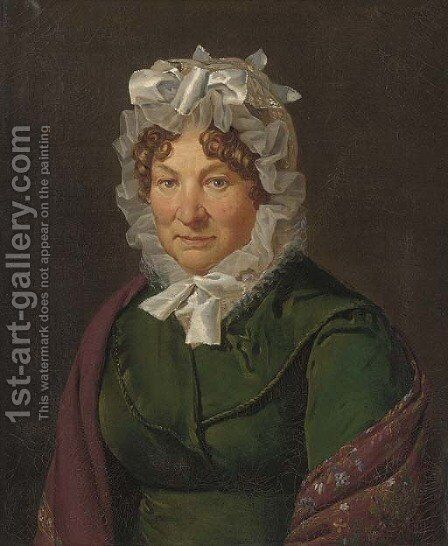 Portrait of an old lady by Henri-Joseph Boichard - Reproduction Oil Painting