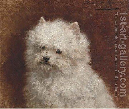 Furry friend by Henriette Ronner-Knip - Reproduction Oil Painting