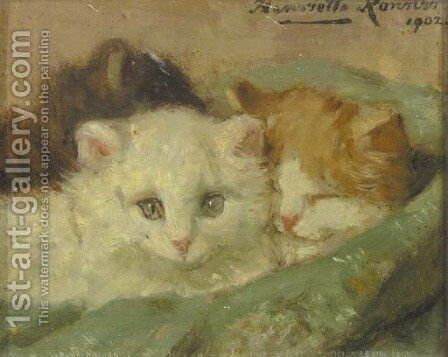 Kittens 2 by Henriette Ronner-Knip - Reproduction Oil Painting