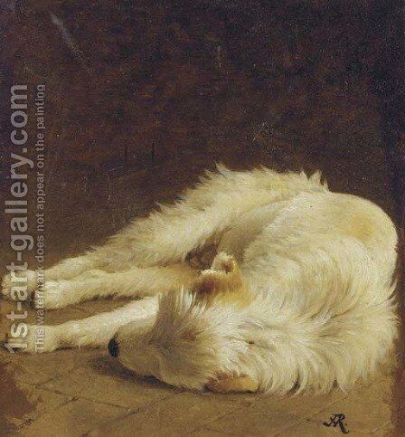 Taking a nap by Henriette Ronner-Knip - Reproduction Oil Painting