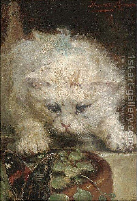 On the prowl by Henriette Ronner-Knip - Reproduction Oil Painting