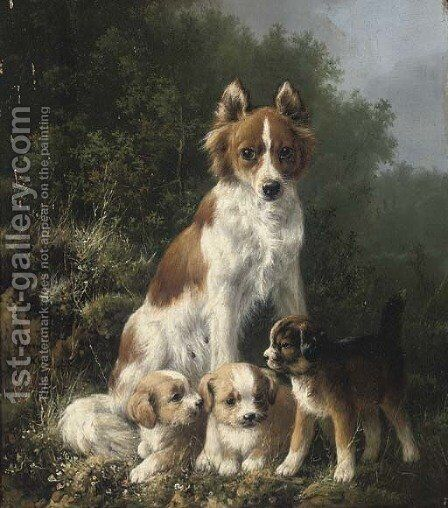 The new arrivals by Henriette Ronner-Knip - Reproduction Oil Painting