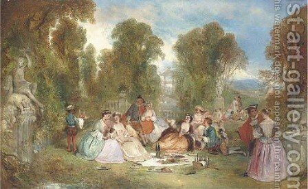 Fete champetre by Henry Andrews - Reproduction Oil Painting