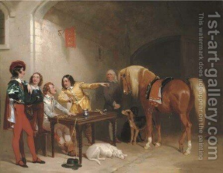The Stake by Henry Barraud - Reproduction Oil Painting