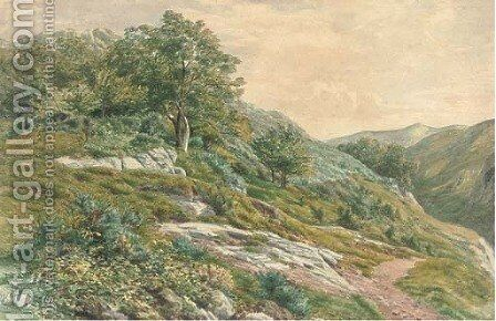 The hillside path by Henry Birtles - Reproduction Oil Painting