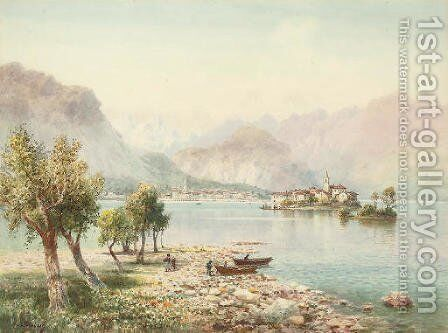 Isola Bella, Lago Maggiore by Henry B. Wimbush - Reproduction Oil Painting
