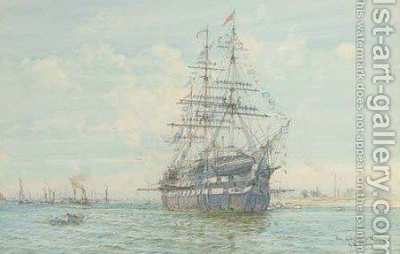 The Warspite by Henry Branston Freer - Reproduction Oil Painting