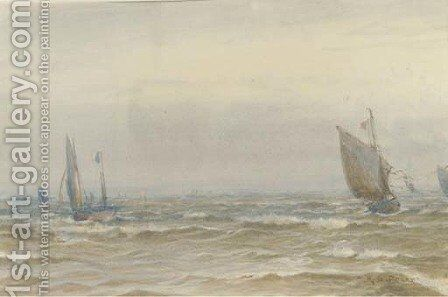 Running home on the tide by Henry Branston Freer - Reproduction Oil Painting