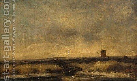 On the Fens by Henry Bright - Reproduction Oil Painting
