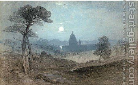 View towards St Peter's, Rome by Henry Bright - Reproduction Oil Painting