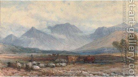 A scene at Ballachullish by Henry Brittan Willis, R.W.S. - Reproduction Oil Painting