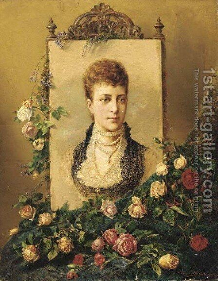 A portrait of Princess Alexandra by Henry Campotosto - Reproduction Oil Painting
