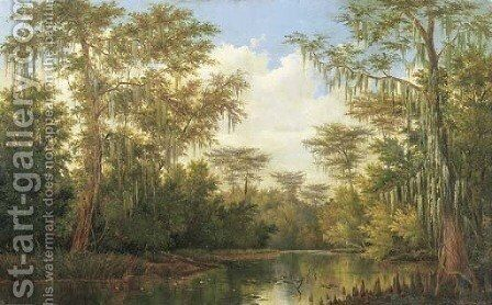 Water Lilies and Spanish Moss by Henry Chapman Ford - Reproduction Oil Painting