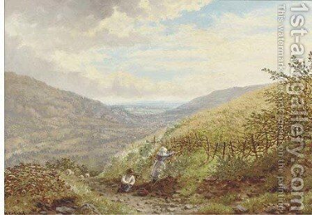 The young berry-pickers by Henry Cheadle - Reproduction Oil Painting