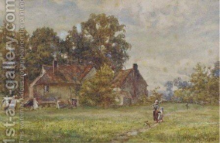 Returning home by Henry Warren - Reproduction Oil Painting