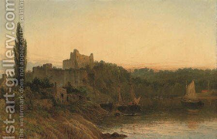 Chepstow Castle by Henry Thomas Dawson - Reproduction Oil Painting