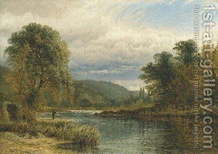 On the Trent, near Castle Donnington by Henry Thomas Dawson - Reproduction Oil Painting
