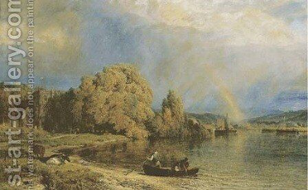 Rain clearing off by Henry Thomas Dawson - Reproduction Oil Painting