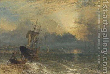 Waiting for the tide by Henry Thomas Dawson - Reproduction Oil Painting