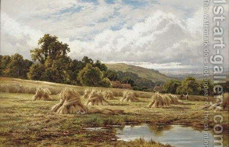 A Surrey cornfield, Betchworth by Henry Hillier Parker - Reproduction Oil Painting