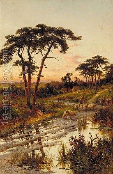 Near Guildford, Surrey by Henry Hillier Parker - Reproduction Oil Painting