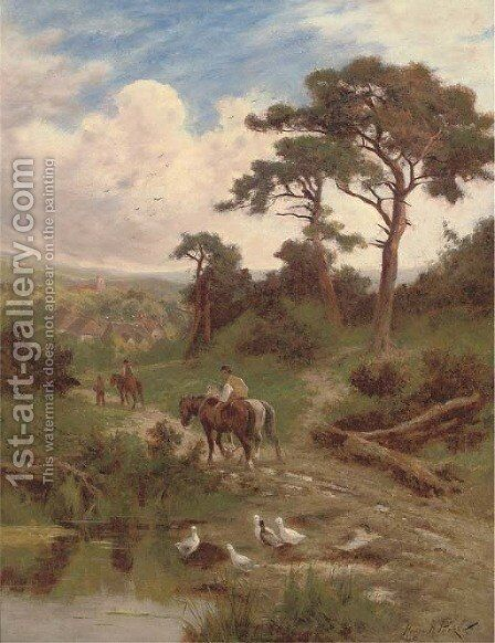 Returning home by Henry Hillier Parker - Reproduction Oil Painting