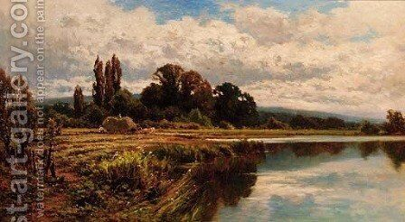 The Thames at Marlow by Henry Hillier Parker - Reproduction Oil Painting