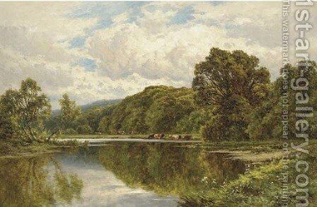 The Thames near Henley 2 by Henry Hillier Parker - Reproduction Oil Painting