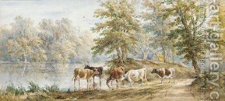 Sheffield Park, Sussex by Henry Earp - Reproduction Oil Painting