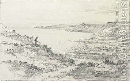 Sidmouth from Salcombe Hill by Henry Edridge - Reproduction Oil Painting