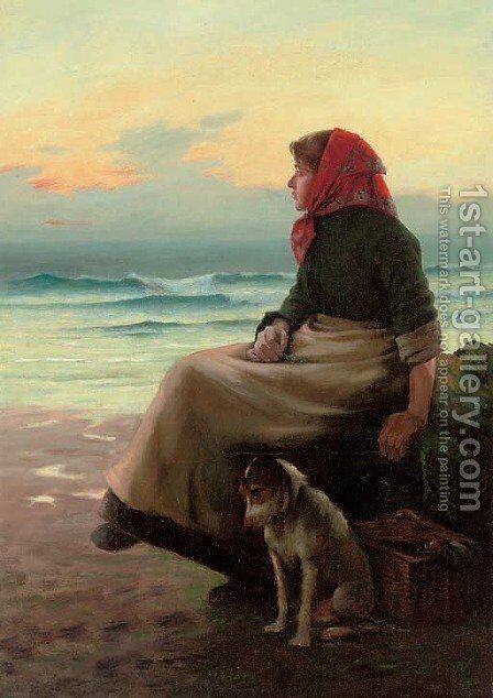 Waiting by Henry Edward Detmold - Reproduction Oil Painting