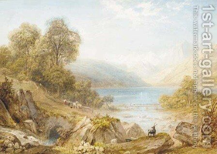 Lake Como by Henry G. Gastineau - Reproduction Oil Painting
