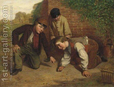 The game of marbles by Henry Garland - Reproduction Oil Painting