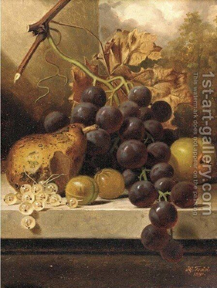 Grapes by Henry George Todd - Reproduction Oil Painting