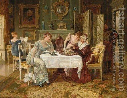 A Fortune in a Tea Cup by Henry Gillard Glindoni - Reproduction Oil Painting