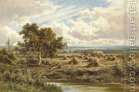 A Surrey Cornfield 2 by Henry Hillier Parker - Reproduction Oil Painting